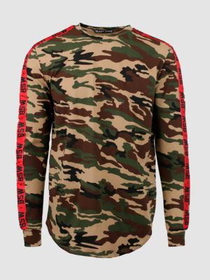 Men's long sleeve TAPES CAMO