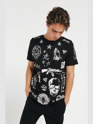 Men's t-shirt BLACK SKETCH