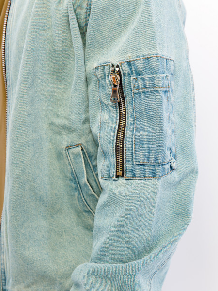 Бомбер джинсовый 13