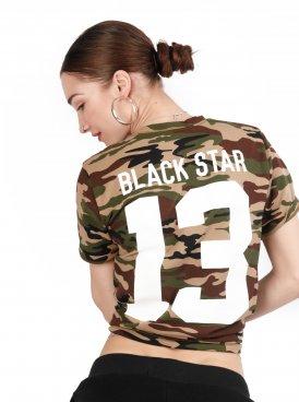 Women's t-shirt BLACK STAR 13