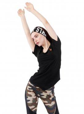 Women's t-shirt SPORT LINE ASSYMETRIC