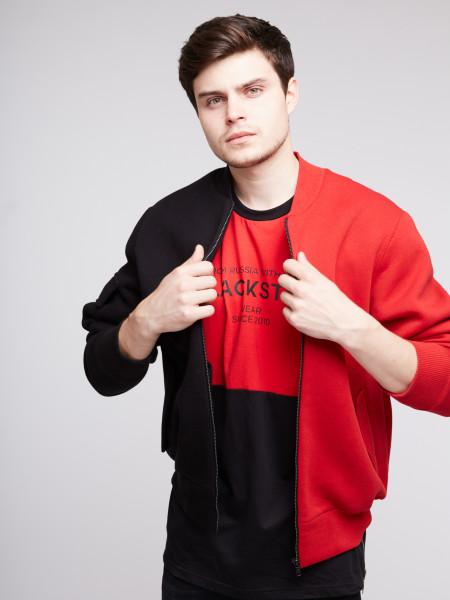 Толстовка-бомбер BLACK & RED