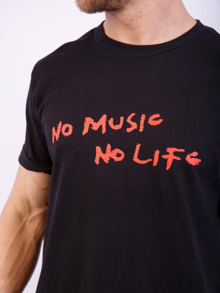 Футболка NO MUSIC NO LIFE