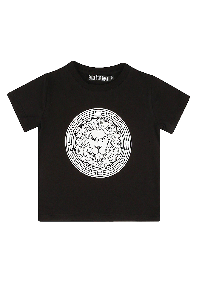 Kids t-shirt Logo Black StarKIDS<br>Kids t-shirt with a big lions head print by Black Star Wear. Straight fit, round neck, 100% natural cotton tissue. Nice and smooth fabrics to grant an ultimate sense of comfort. Due to high-quality materials this garment will withstand repeating washing.&amp;nbsp;Available in black, gray, red, tiffany, pink.<br><br>size: 3-4 years<br>color: Black<br>gender: unisex
