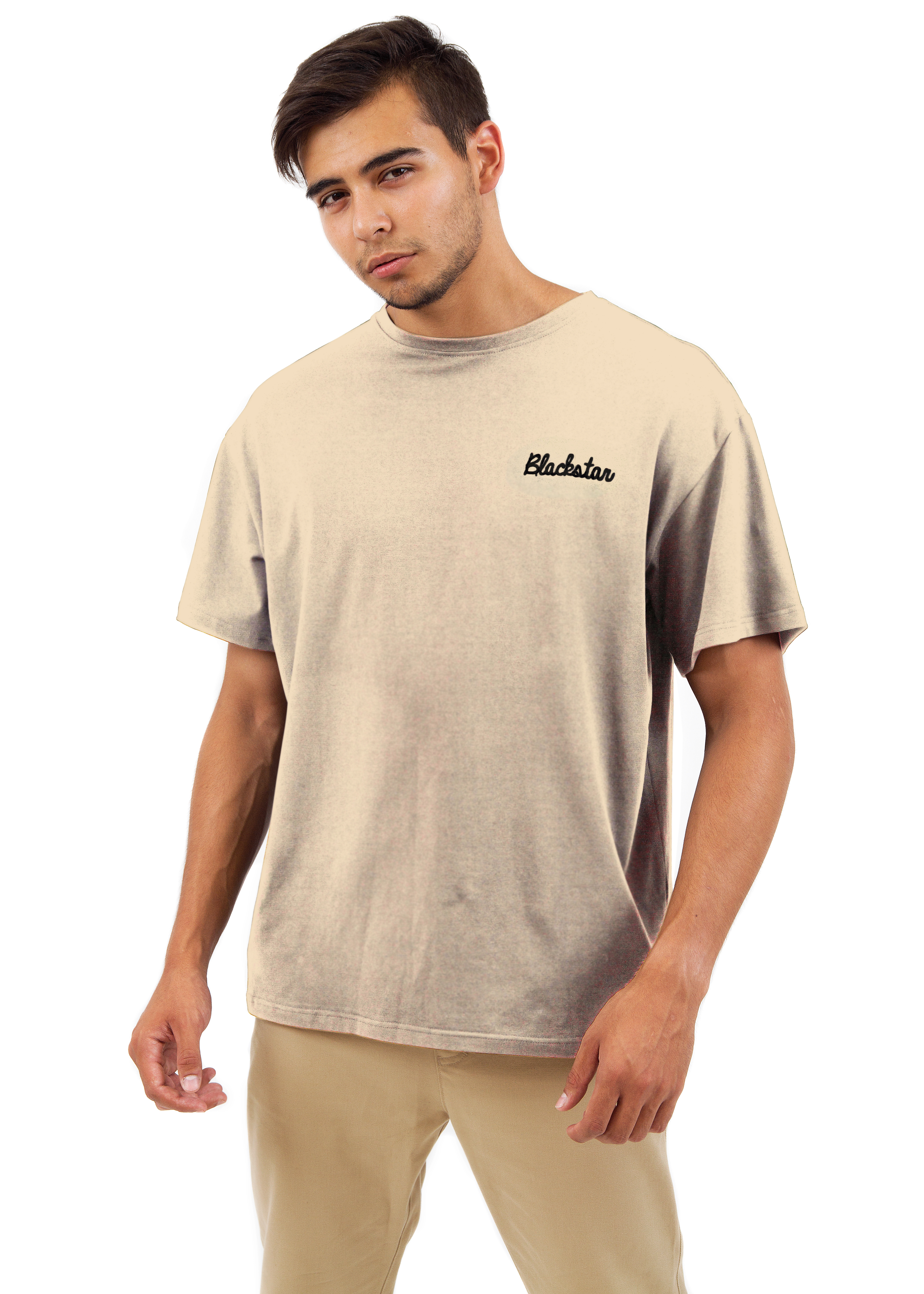 Mens t-shirt Black Star ClassicT-shirts and Jerseys<br>Mens basic t-shirt by Black Star Wear. Loose fit, round neck and half sleeve. High quality cotton tissue to give you maximum comfort, this t-shirt will become one of you favorite basic garments. Availiable in black, khaki and beige, decorated with a small brand embroidery on the left side of the chest.<br><br>size: XS<br>color: Beige<br>gender: male