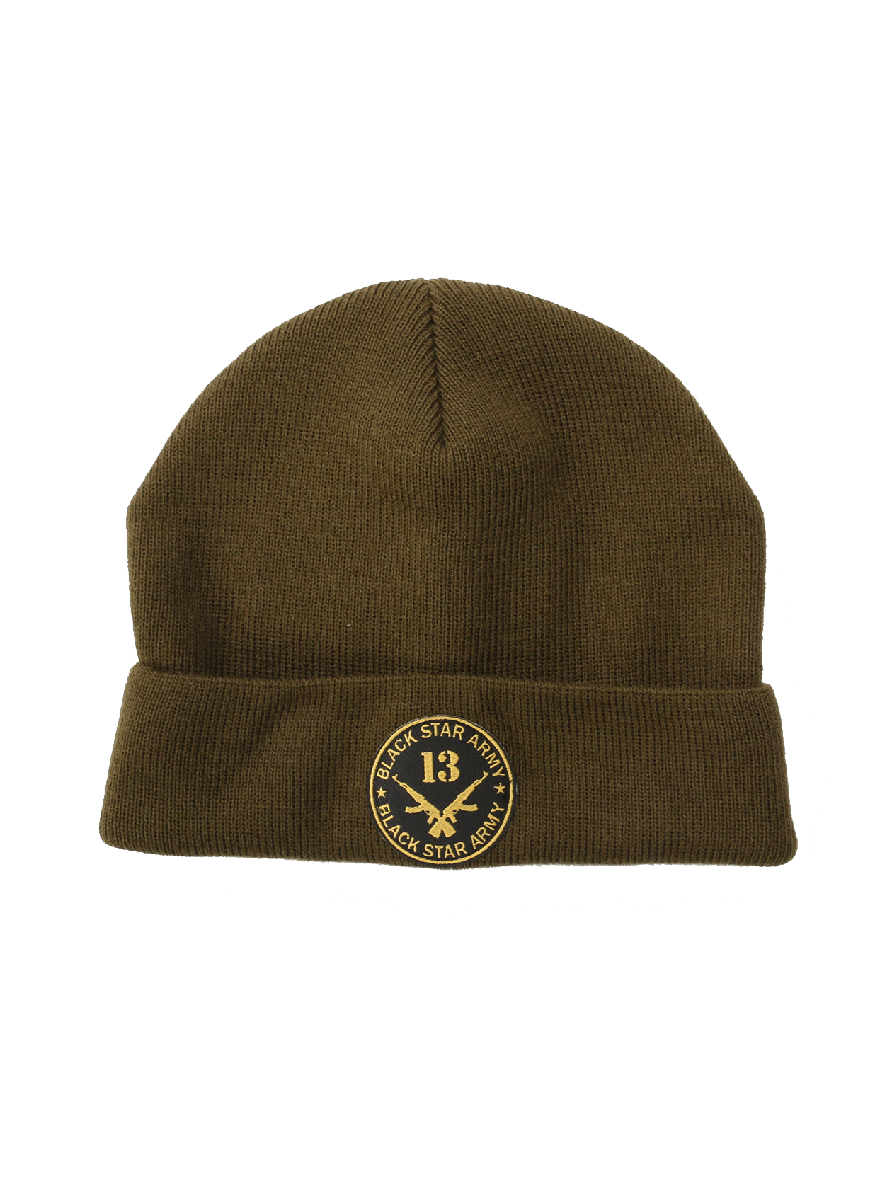 Kids beanie BS ArmyKids beanie in khaki by Black Star Wear. Turn-up brim, ribbed design, 100% acrylic. Patch with crossed rifles and Black Star Army lettering. One size.<br><br>size: One size<br>color: Khaki<br>gender: unisex