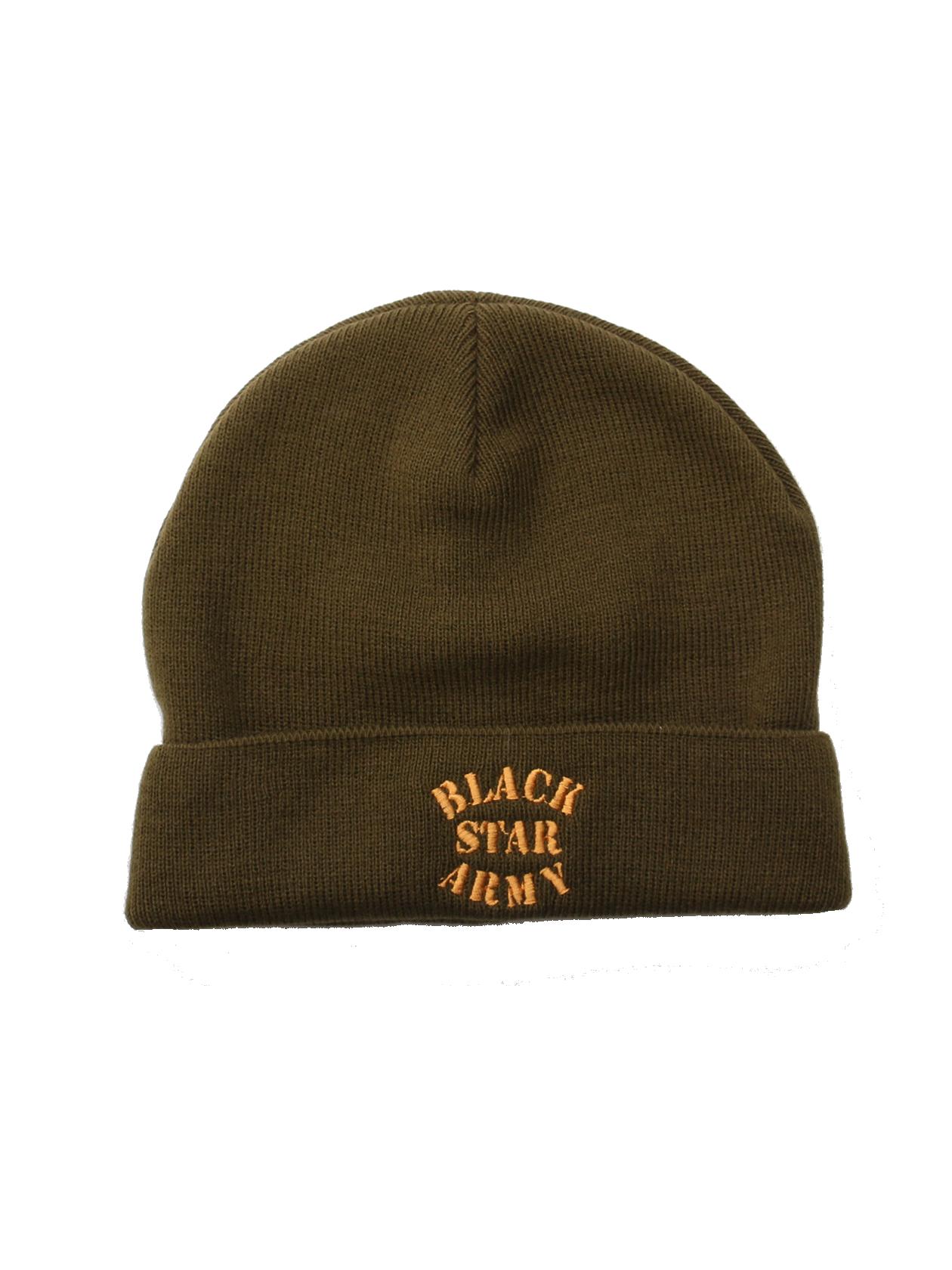 Unisex beanie Black Star Army