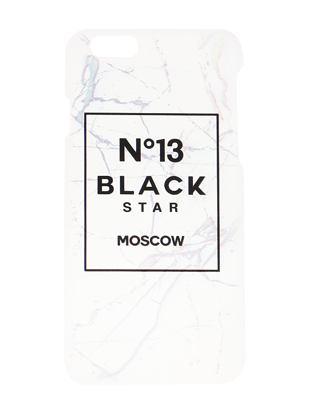 CASE FOR IPHONE 5/6/6+ №13 Black StarIphone plastic hard case by Black Star Wear. Printed wih marble texture and №13 Black Star Moscow lettering. Solid protection and direct access to all device features.<br><br>size: 6<br>color: White<br>gender: unisex