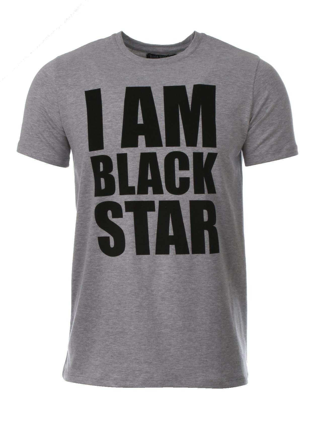 Teens t-shirt I AM BLACK STAR