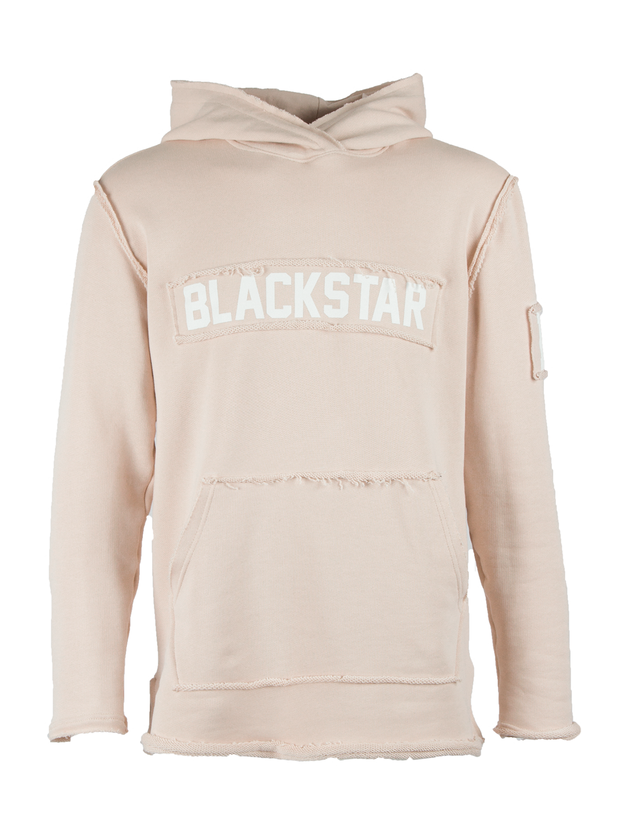 Mens hoodie BS HoodMens hoodie by Black Star Wear. Straight fit, raw cuts and seams, big hood and front pocket. Natural and soft cotton material. Patch Blackstar on the chest and 13 on the left sleeve. Avaliable in khaki.<br><br>size: XS<br>color: Beige<br>gender: male