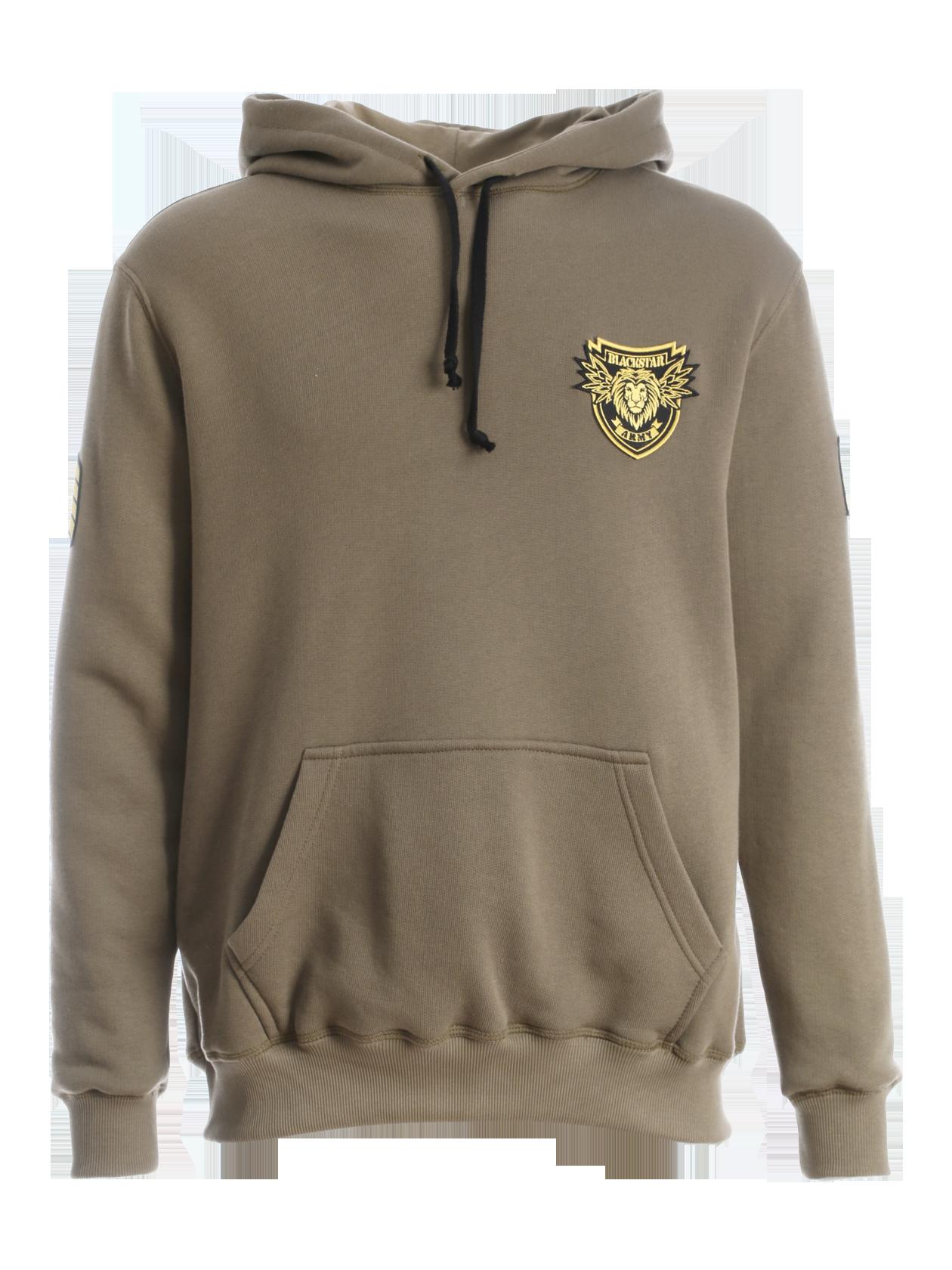 Mens hoodie Black Star Army