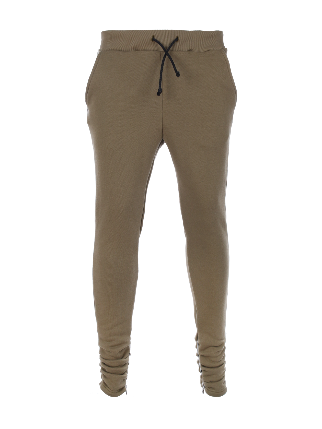 Unisex Pants Black Star ZipMens joggers by Black Star Wear. Slim fit, elastic band on waiste, side pockets, zips, 100% natural cotton. Perfect for everyday and sport activities. Avaliable in khaki and black.<br><br>size: S<br>color: Khaki<br>gender: female