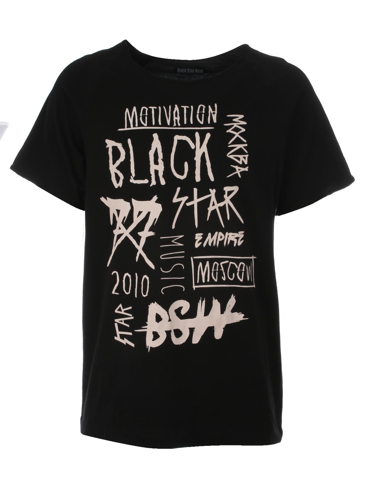 Mens t-shirt BS fonts от BlackStarWear INT