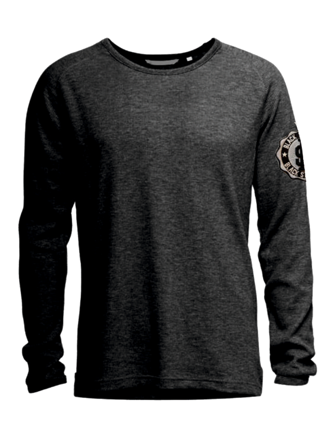 Mens long sleeve t-shirt Stone<br><br>size: M<br>color: Black<br>gender: male