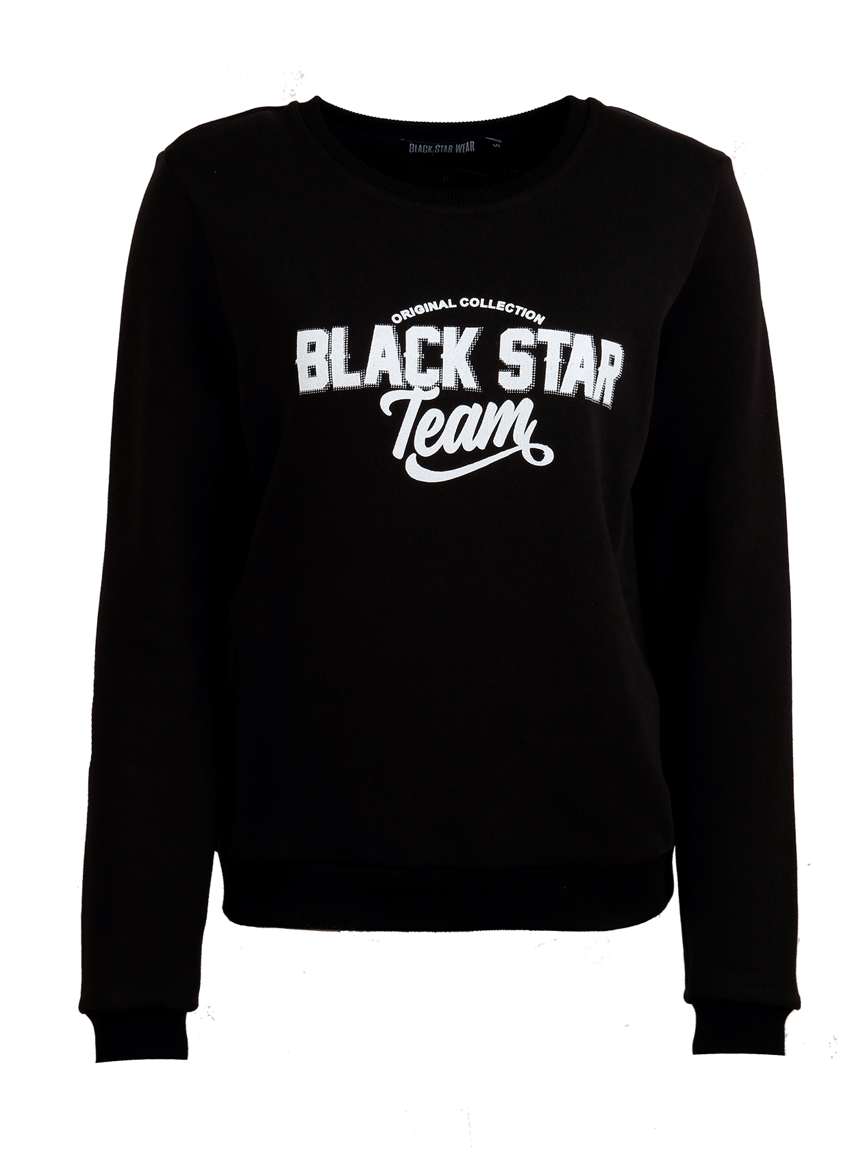 Womens sportsuit Black Star TeamWomens sweatshirt and sweatpants set by Black Star Wear. Sweatshirt with o-neck, cuffs, big print Original Collection Black Star Team and lions head on the back. Sweatpants with side pockets and and Original Collection Black Star Team print on the left side. Regular fit, natural cotton. Avaliable in gray.<br><br>size: S<br>color: Black<br>gender: female