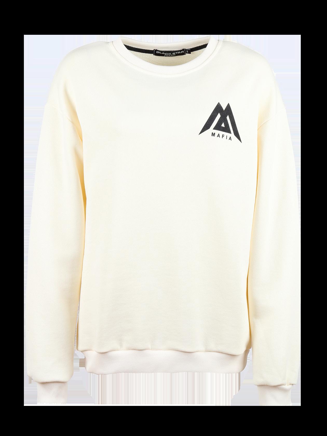 Womens sweatshirt Black Star Mafia<br><br>size: L<br>color: White<br>gender: female