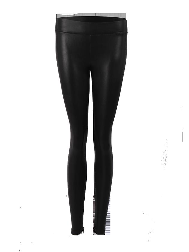 Womens leggings Black Star PU