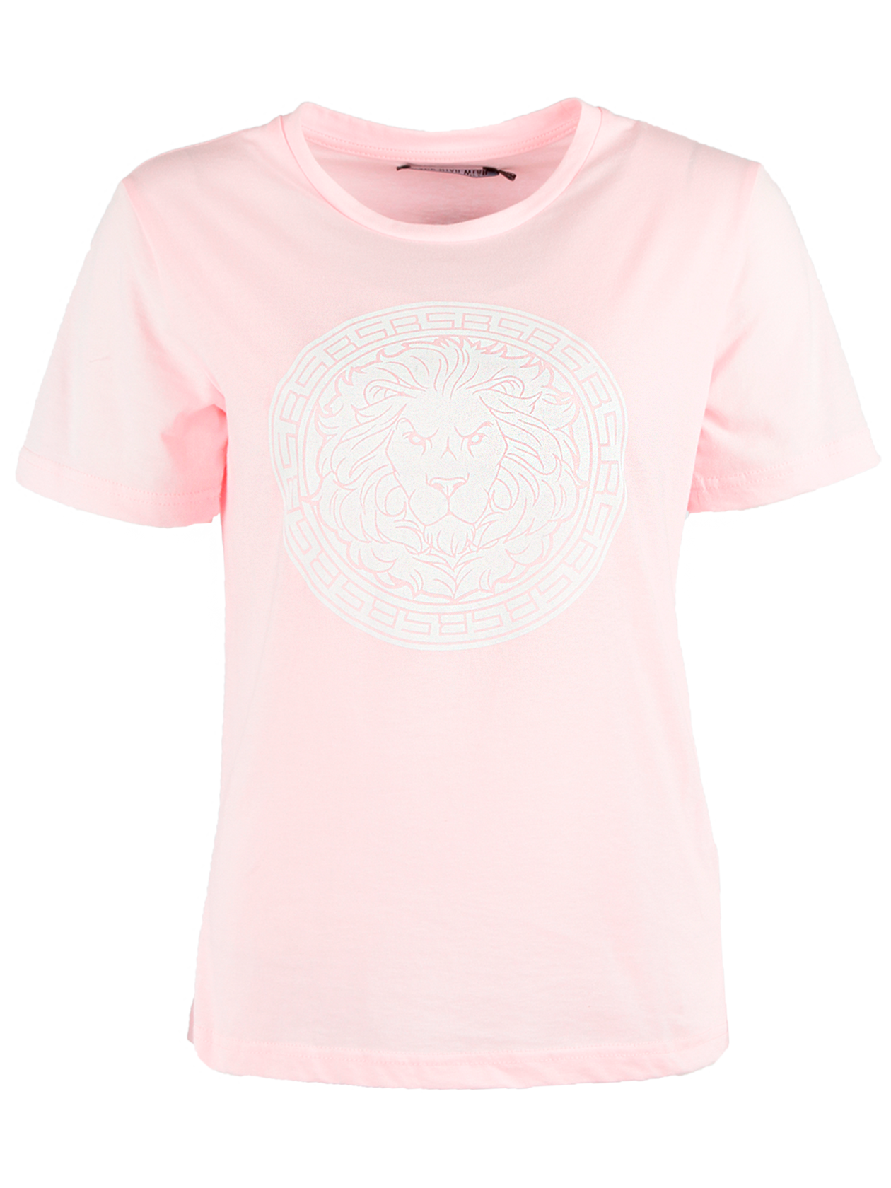 Womens t-shirt T-PRIMWomens t-shirt by Black Star Wear. White print with a lions head on the chest, natural cotton (90%), lycra (10%). Regular fit, crew neck. Avaliable in soft-pink and white color.<br><br>size: L<br>color: Pink<br>gender: female
