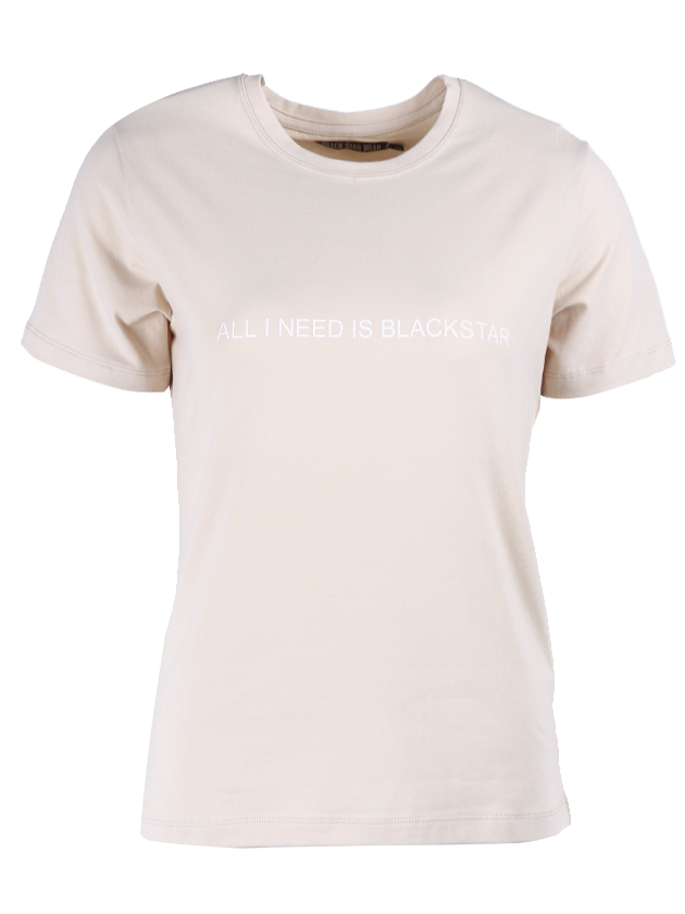Womens t-shirt All you Need is Black Star