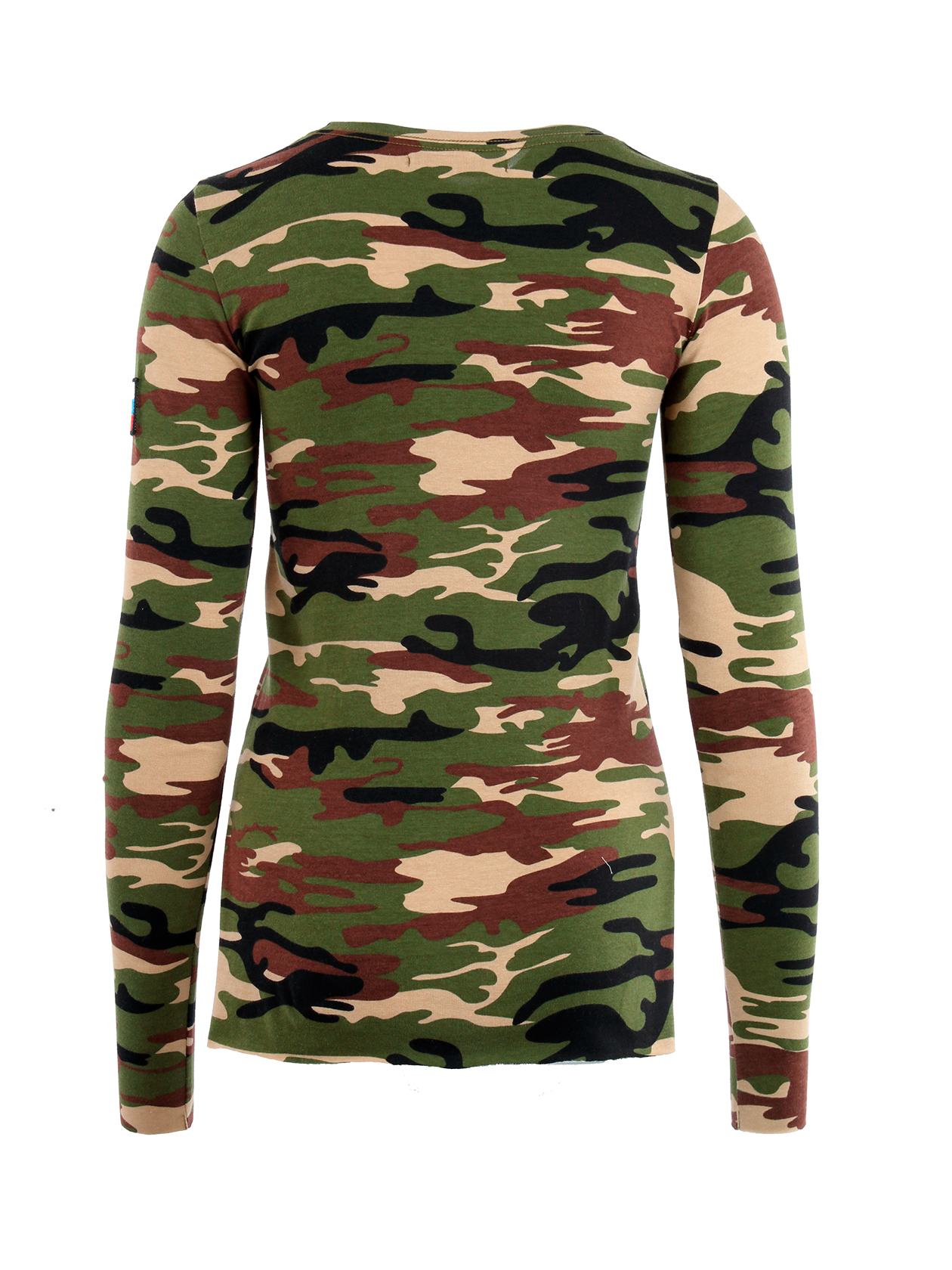 Womens long sleeve t-shirt Camo Patch от BlackStarWear INT