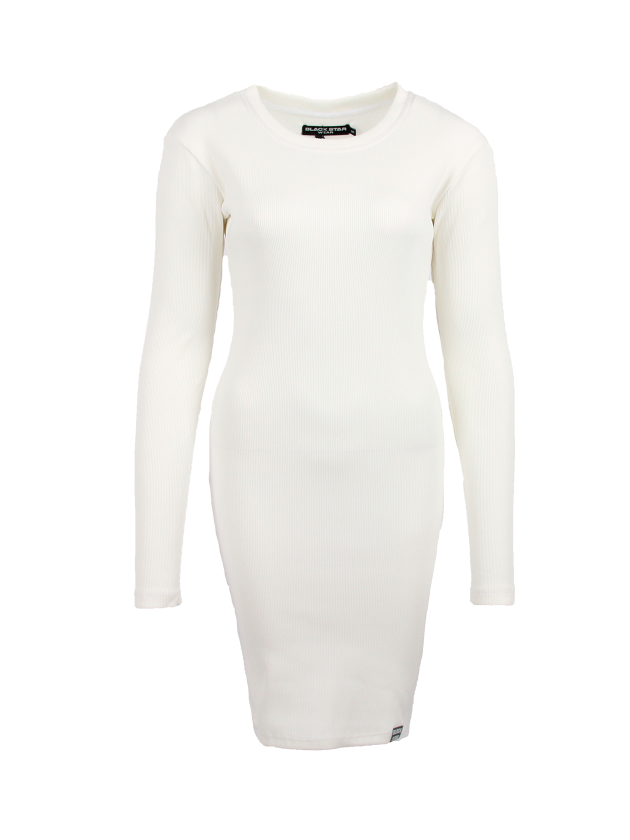 Womens dress MulticolourWomens dress by Black Star Wear. Slim fit, o-neck, lond sleeves. Small black label with #blackstar on the front. Natural cotton (90%) and lycra (10%) blend.<br><br>size: L<br>color: Beige<br>gender: female